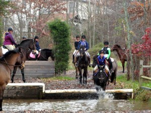 Schooling the water jump