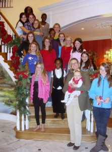 Clairvaux riders at our annual holiday party