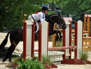 Emma Hess and Blackberry Storm on their way to winning Champion in the Medium Local Pony Hunters.