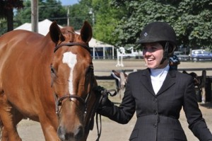 Morgan Busey and Bromont after their successful Children's Hunter rounds